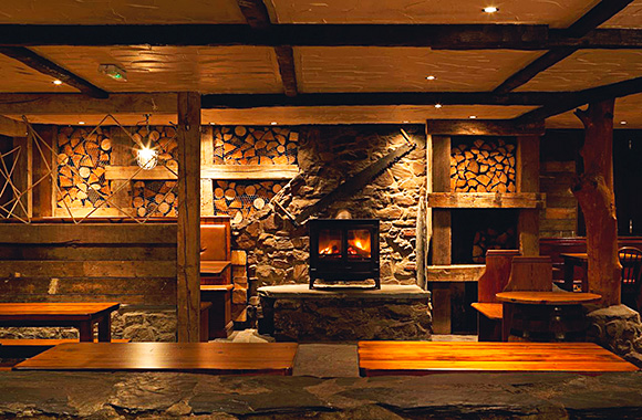 Wood you believe it: Burns Interior Design's recent trade projects include the Clachaig Inn, Glencoe.