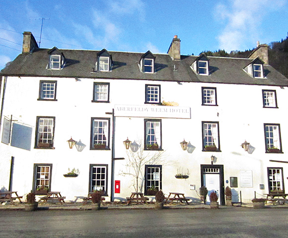 The Weem Hotel has 13 letting bedrooms.