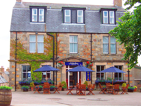The nine-bedroom hotel is located in the heart of the village overlooking the square.