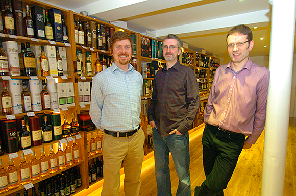 Three wise men: Mark, Matthew and Shane hope it will be a bumper Christmas.
