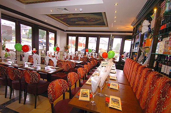 Floor to ceiling doors along the front and side of the premises flood the restaurant with natural daylight - SLTN