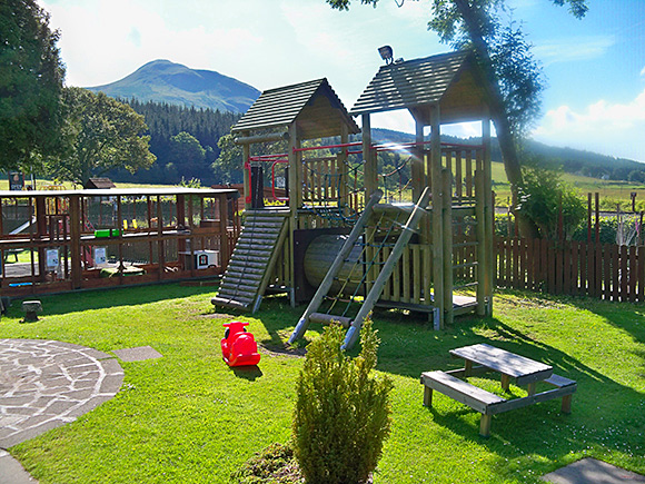 Family-friendly: the outdoor space at the Beech Tree Inn is designed to appeal to families.