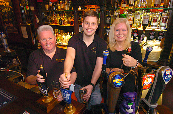 A family affair: Nigel, Mark and Laura Hyson took on the Tolbooth Tavern in 2011.