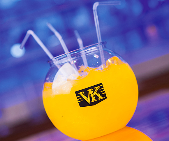 Bowled over: the firm behind VK is supporting the trend for RTD cocktails with branded fishbowls.