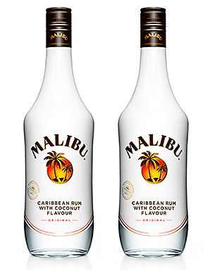 COCONUT-flavoured rum brand Malibu has been given new-look packaging.