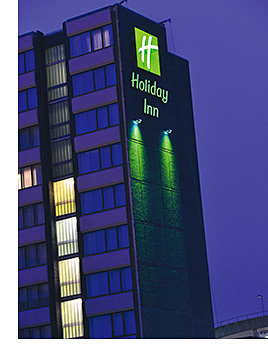 The Holiday Inn hotel has 300 bedrooms.