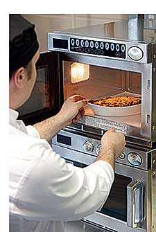Samsung's latest CM1929 is a powerful unit and its oversized cavity will hold containers of up to 2/3GN, making it ideal for bulk reheating and for fast cooking.