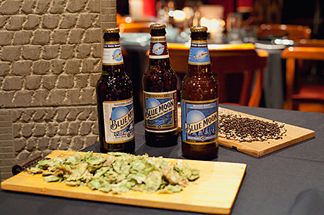 Molson Coors brands like Blue Moon were paired with different dishes at The Cellar Restaurant at Ryan's in Edinburgh.