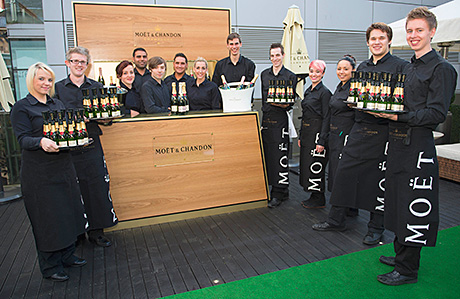 Moet & Chandon worked with 29 on the Roof Terrace refurbishment last year.