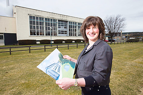 Senior site manager Kirsty Dagnan at the existing Teaninich distillery where the proposed new facility will be built.