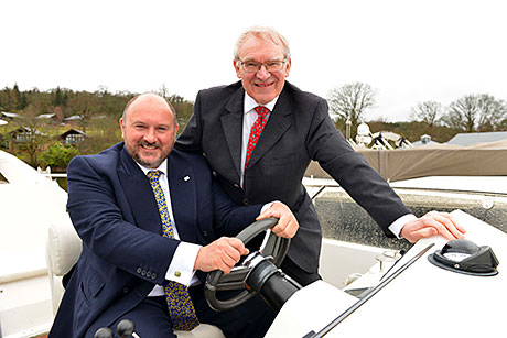 • Paddy Crerar (left) has taken over from Stephen Carter as chair of HIT Scotland.