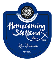 THE Inveralmond Brewery has created a special beer to mark next year's Homecoming Scotland celebrations.