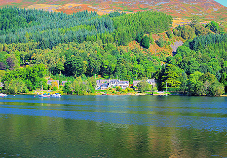 Achray House Hotel, Restaurant & Lodges sits on the banks of Loch Earn in Perthshire.