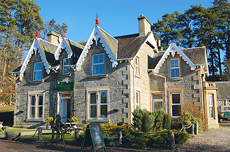 The Strathardle Inn is under new ownership. The property includes a bar as well as letting rooms.