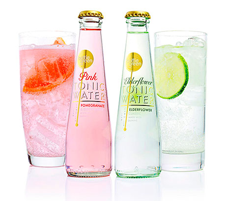 The Pink and Elderflower tonic waters.