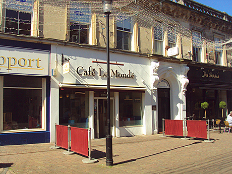 The retail unit currently trades as Cafe Le Monde.