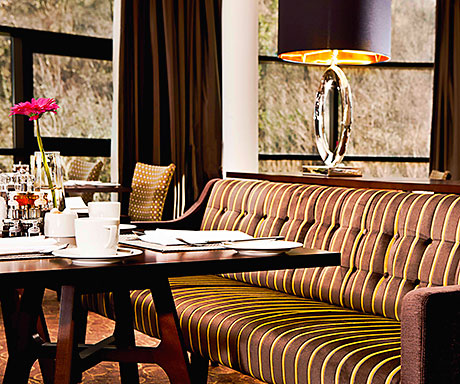 """The Observatory breakfast room was revamped with """"bright and cheerful"""" colours as part of the refurbishment."""
