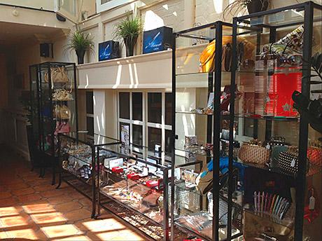 Shop til you drop: the new boutique stocks a range of accessories.