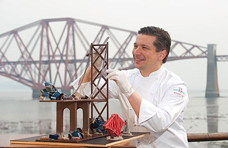 Building bridges: Linlithgow-based chocolatier Sebastian Kobelt.