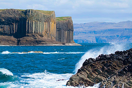 Fingal's Cave, in the Inner Hebrides, features in the new campaign.