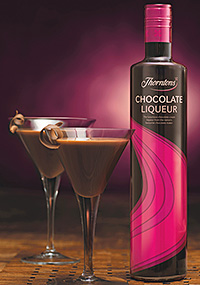 CHOCOLATE liqueur Thorntons has been given a new look