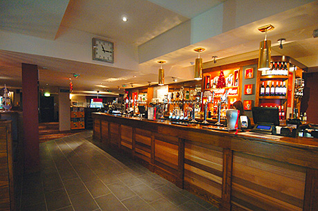 • The newly refurbished bar area of The Titan in Clydebank.