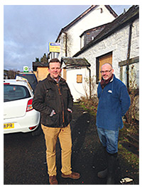 • Fusion's Alex McKie (left) with Red Brolly Inn manager Joseph Newbold.