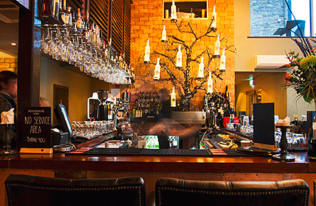 • Old meets new: the interior at Hyde combines reclaimed materials with contemporary artwork.