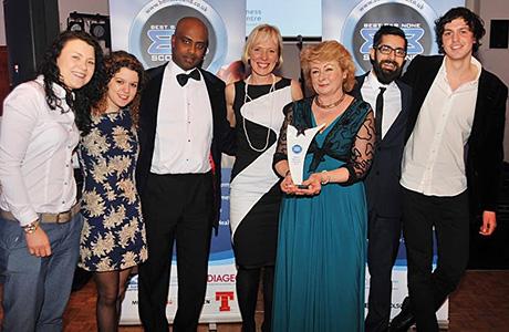 The team from Sofi's in Edinburgh celebrate their National Champion award.