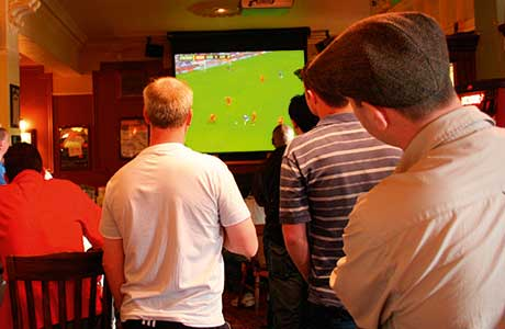 Publicans should ensure that they have the right size screen for customers to see all the action.