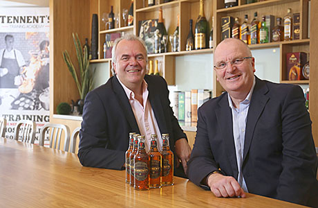 Brian Calder, MD Wallaces TCB and John Gilligan, MD of Tennent Caledonian Breweries