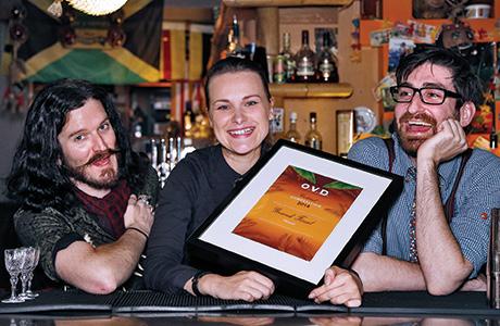 • (From left) Ben Louthean, Julija Bernatovica and Paul Donegan.