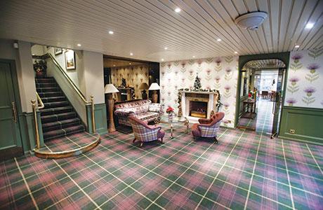 • Check mate: Stevens & Graham tartan carpets feature in Strathblane's Kirkhouse Inn.