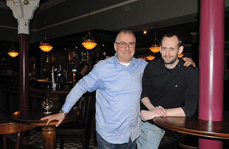 Michele Pagliocca (left) and general manager Paul Banham replicated the quirky 'shabby chic' interior of The Butterfly and The Pig on Bath Street in the new Shawlands outlet.