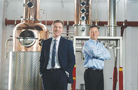 • Glasgow Distillery Company CEO Liam Hughes (right) with business partner Ian McDougall.