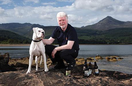 • Arran Brewery's Gerald Michaluk.