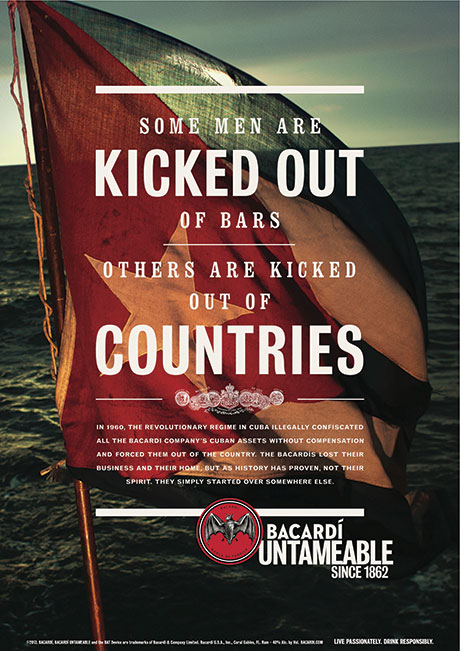 • Bacardi has been promoting its Cuban roots.