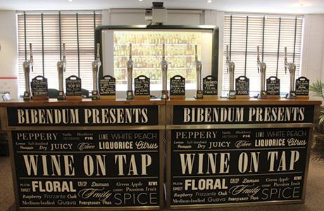 Bibendum wine on tap