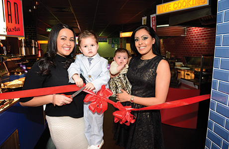 Gill's daughter (left) and Singh's wife open the venue.