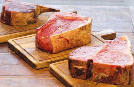 Butchershop cuts on the bone
