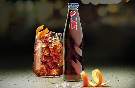 The new-look Pepsi Max bottle.