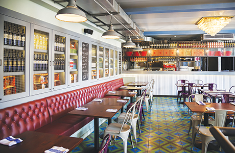 refurbished bar