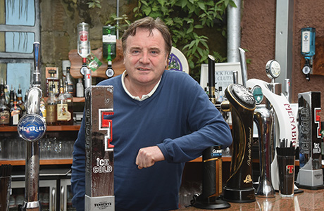 Mixed emotions: Alan Crossan opened the new Clutha bar late last month.