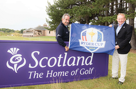 Visit Scotland Chairman Mike Cantlay and 2014 European Ryder Cup Vice Captain Sam Torrance launch the 2014 Ryder Cup