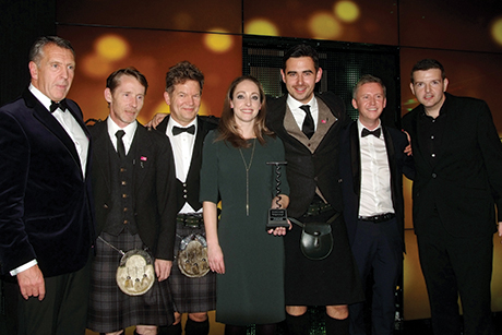 The team receiving their SLTN Award at last year's ceremony