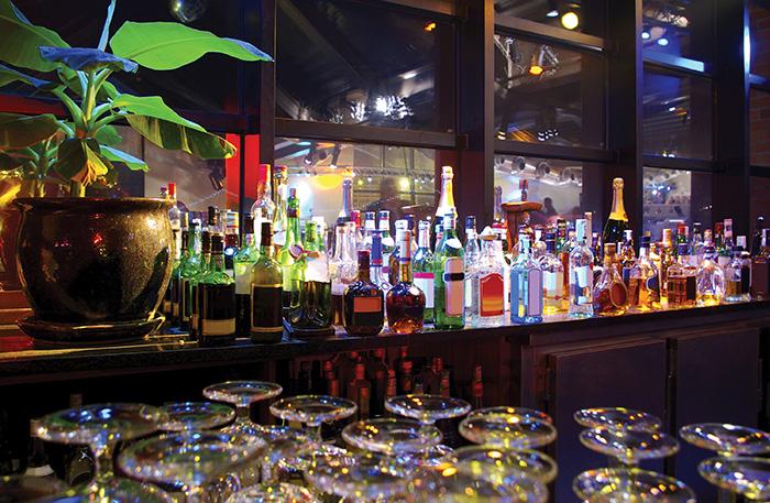 Bottles on back-bar 1