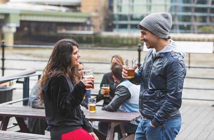 happy beer drinkers