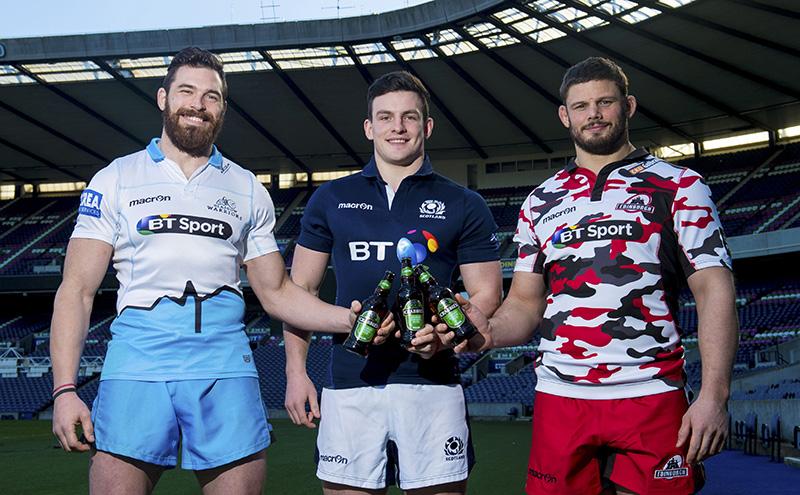 Glasgow Warriors' Sean Lamont joins Scotland's Matt Scott and Edinburgh's Ross Ford