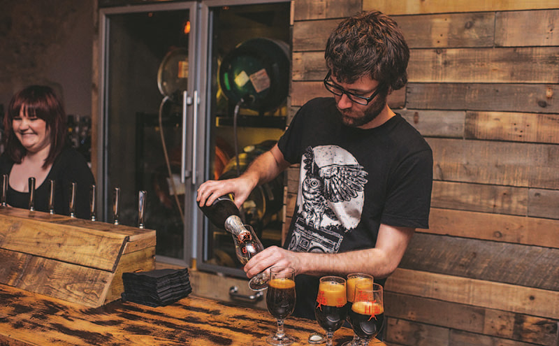 • The Hanging Bat stocks a vast range of beers including its own, which is brewed on site.