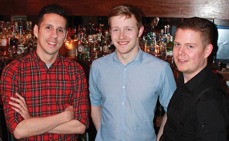 Martin Famrer, Jonathan Arthur and Shea Campbell